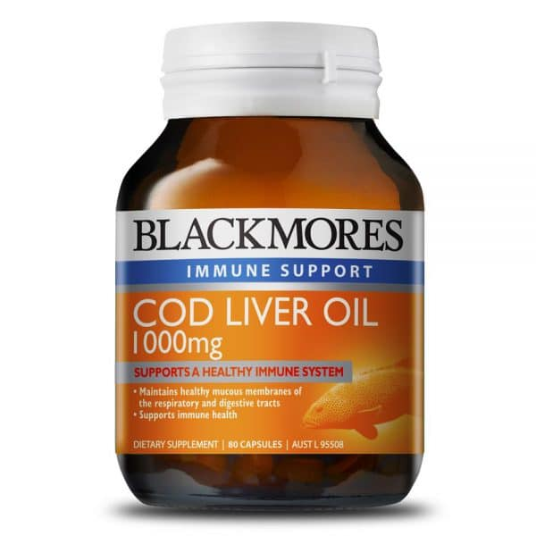 Blackmores Cod Liver Oil 1000mg 80c