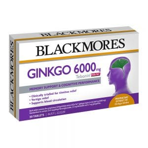 Blackmores Ginkgo 6000mg Tebonin EGb 761 30t